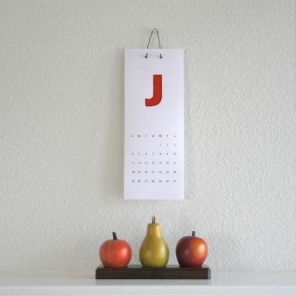 2009 calendar - print and assemble