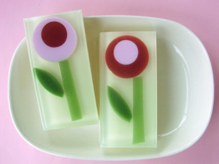 Rose Poppy Flower Soap