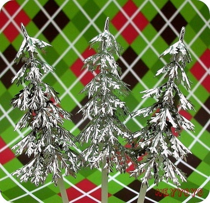 12 Silver Tree Toppers