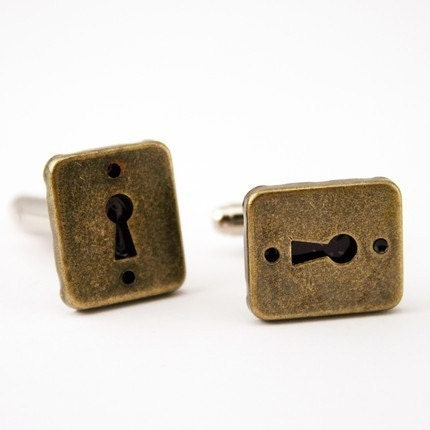 steam punk keyhole cuff links