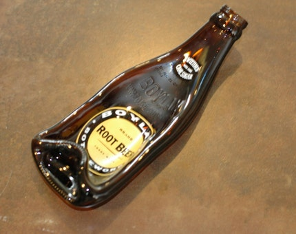 Recycled Boylan's Root Beer Soda Bottle Spoon Rest