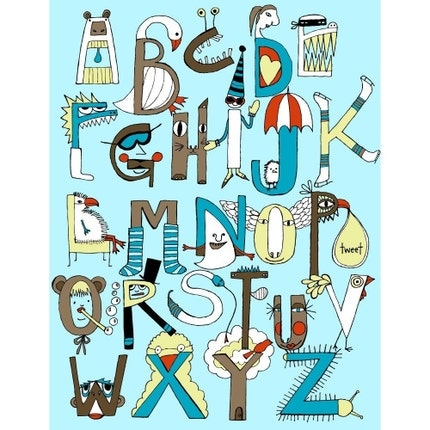 critters and creatures alphabet poster