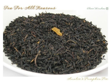 JANUARY SALE - Auntie's Pumpkin Pie -- Loose Leaf Black Tea - 2 oz. bag