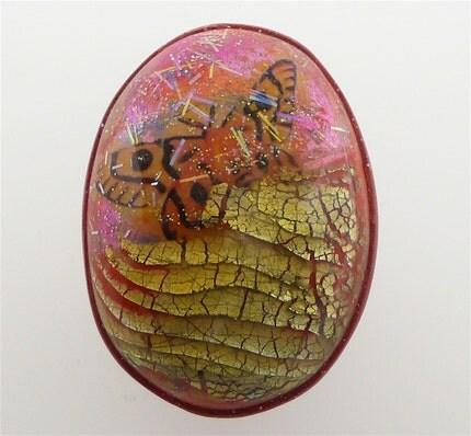 Polymer Clay Moth Cabochon