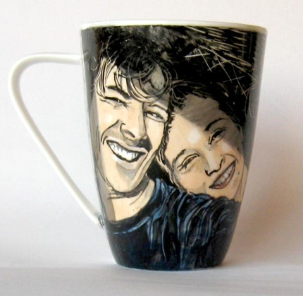 Handpainted personalized portrait mug