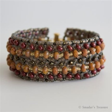 Earth Colors Beadwoven Bracelet