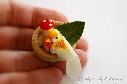 Wee Bird Brooch