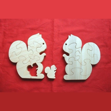 Squirrel Family Wooden Puzzle