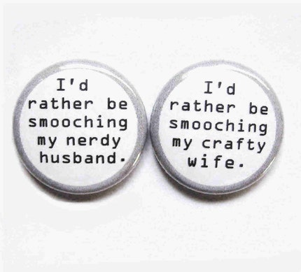The Dynamic Duo-1 Inch Buttons For Married Cool People