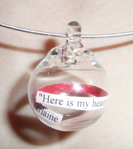 Love quote necklace