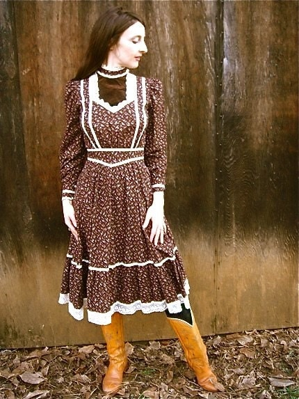 RESERVED FOR ARDENTEPATIENCE     The Classic Boho Girl Gunne Sax Dress XS/S