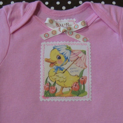 Vintage applique onesie
