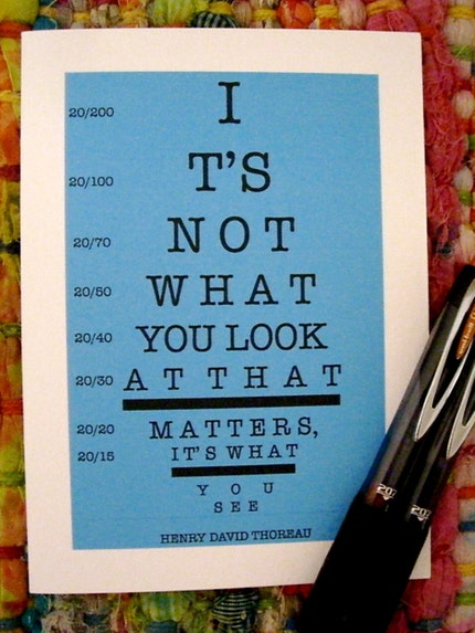 Henry David Thoreau - Eye Chart Note Card