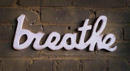 BREATHE recycled wooden sign