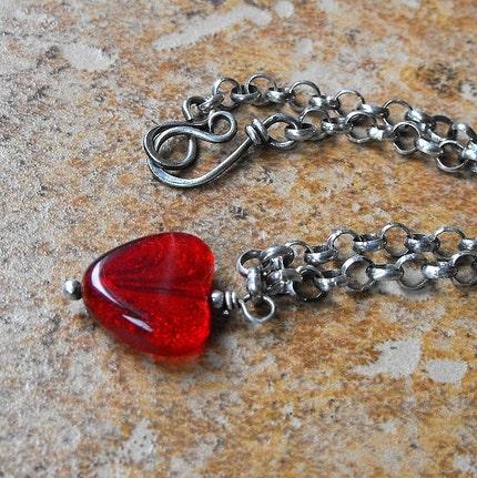 Token of love heart bracelet