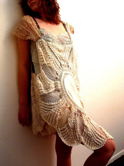 Cocoon Crochet Dress by rubypearl