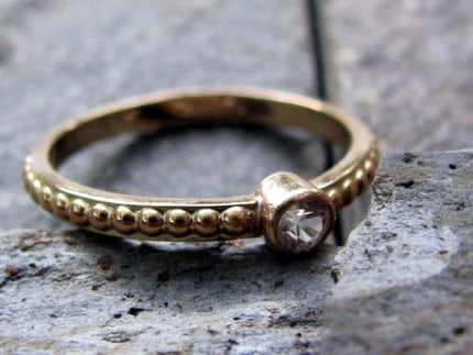 Despite the occasional bumps in the road engagement ring - 14k gold, made to order