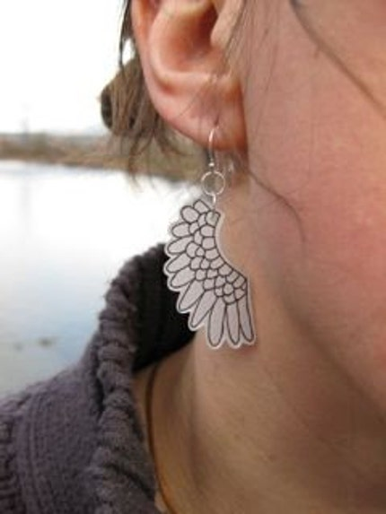 Etsy :: alisaw :: Wing earrings from etsy.com