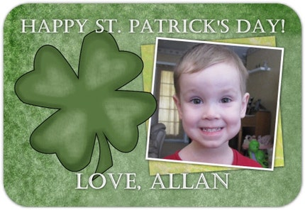 24 Mini St. Patrick's Day Cards - Designed AND Printed - CUSTOM for YOU - wallet size