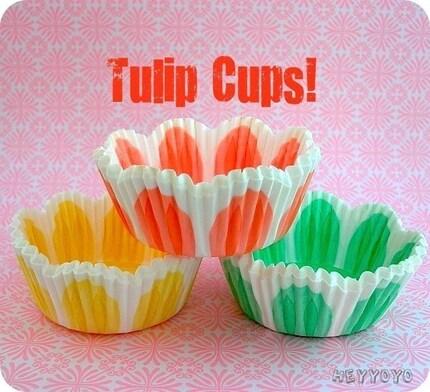 75 Tulip Cupcake Liners
