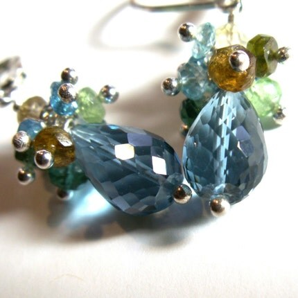 jewelry earrings london blue topaz aqua tourmaline apatite