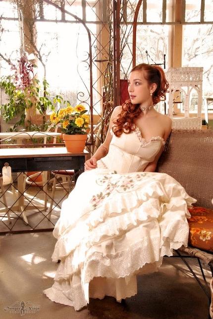 Etsy Onekindcouture Victorian Corset and Petticoat Alternative Wedding