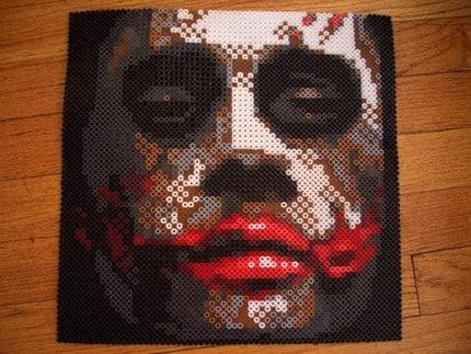 Lut 39 s dream why so serious joker bead sprite art framed - Hama beads cuadros ...