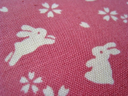 Rabbits in Pink - Japanese Cotton - Fat Quarter