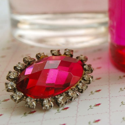 Pink Strass pin