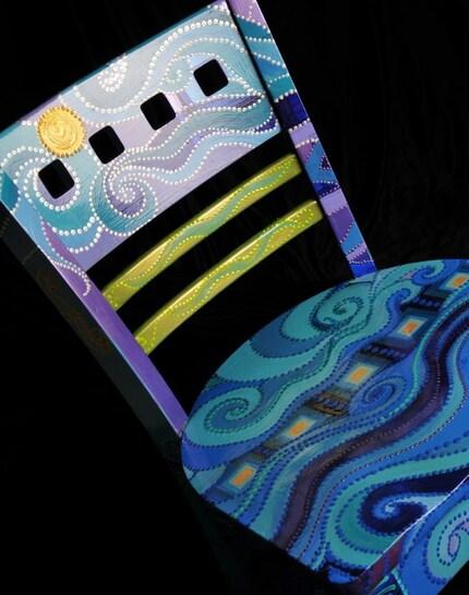 Blue Swirl chair