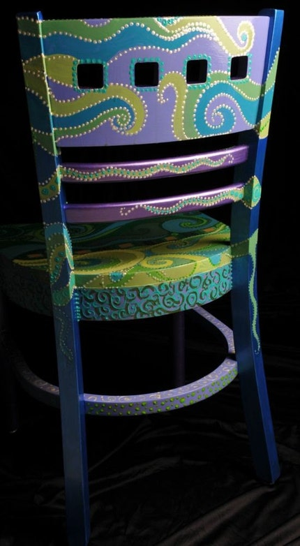 Green Swirl Chair