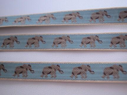 Rare Vintage Woven Elephant Ribbon