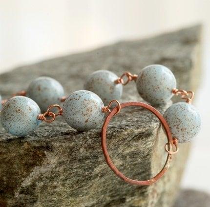rusty blue bracelet