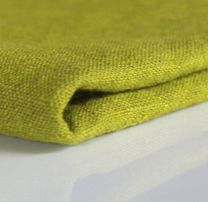 linen - hand dyed - chartreuse