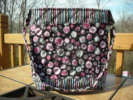 Quilted Round-n-Round We Go Bag by LBsSewingSanity on Etsy