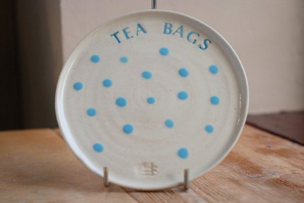 Ceramic Tea Bag Tray