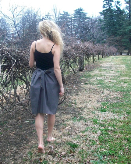 Brown Silk Summer Skirt