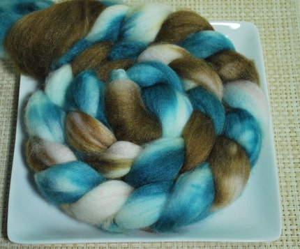 Floating Chocolate - Merino/Bamboo Roving