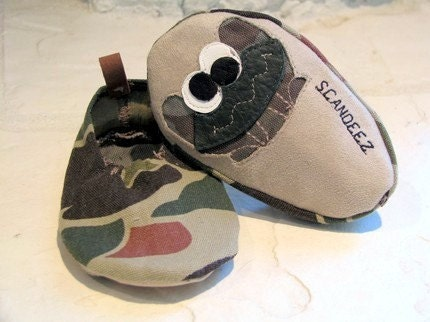 Baby Camo Moks Size 0-3 Months