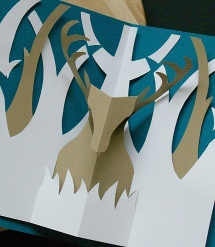 Etsy :: popupcardmaking :: Kirigami Buck Pop-up Card, Make Yourself