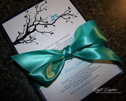 Heather Collins Groff's Graphics Breanna Couture Embellished Boxed Wedding Invitation