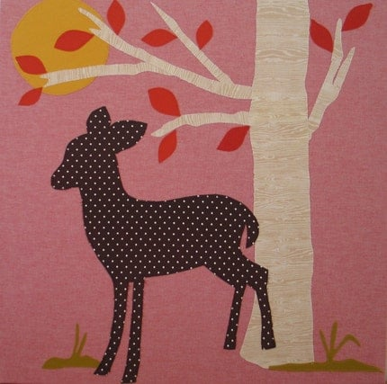 Polka Dot Fawn Stretched Canvas