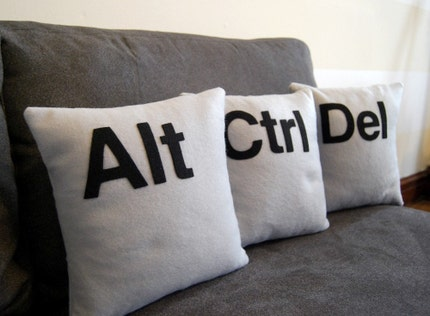 Alt - Ctrl - Del  Three Pillow Set