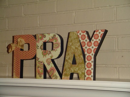 PRAY - Paper Mache Letters