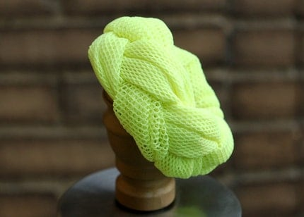 The Jane Smith Bracelet in Lime Mesh Braid
