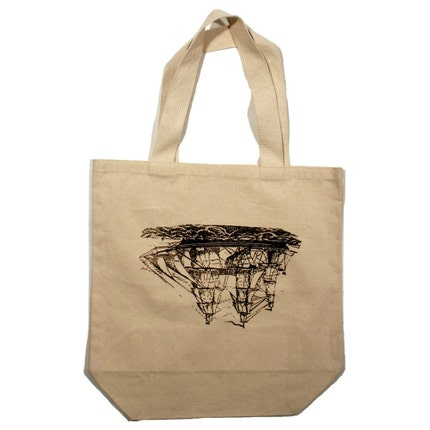LOYALTY AND BLOOD - Upside Down Ship Tote, Large