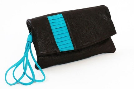 Nolita Mini - brown with turquoise SALE