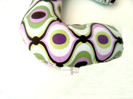 BE BOLDer  - Baby or Toddler Neck Car Seat  Support Pillow -  - Retro Free Spirit MOD