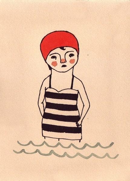 swimmer gocco print