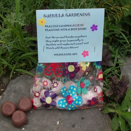 Guerilla gardening seed bombs
